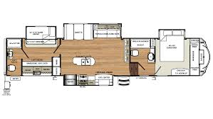 5th Wheel Camper Floor Plans by 2018 Forest River Sandpiper 383rblok Model