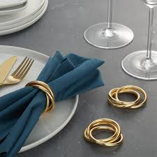napkin rings silver gold wood and more crate and barrel