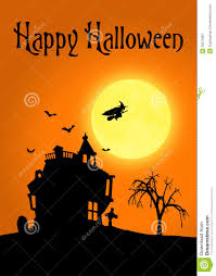 Halloween Silhouette Halloween Silhouette Landscape Royalty Free Stock Photography