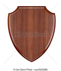 wood plaque wood plaque isolated on white background stock illustration