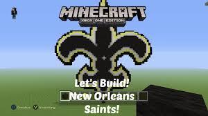 minecraft let u0027s build nfl logos new orleans saints xbox one
