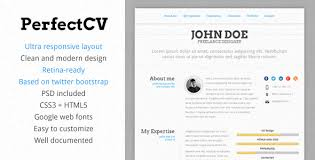 template of a good cv 21 professional html u0026 css resume templates for free download and