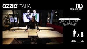 extendable design table fil8 by ozzio italia youtube