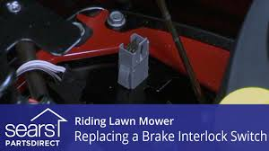replacing a brake interlock switch on a riding lawn mower youtube