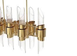 Modern Design Chandelier Contemporary Chandelier Brass Tycho Rectangular