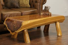 sold cedar log vintage rustic coffee table or bench harp