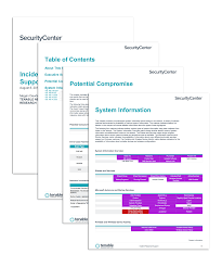 it support report template incident response support sc report template tenable