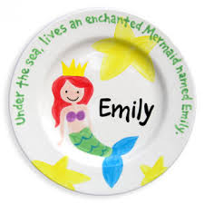 personalized baby birth plates personalized baby birth plate mermaid personalized baby plates