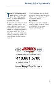 2012 Toyota Sienna Warranty U0026 Maintenance Information