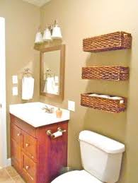 Wicker Bathroom Shelf Maybe Not Baskets Or Open Shelves But What About Several Smaller
