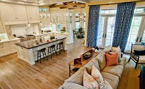 kitchen living room design of good open kitchen and living room
