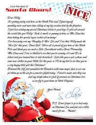 personalized letter from santa a one in your with an uplifting personalized