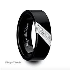mens black wedding rings black tungsten mens wedding bands wedding bands wedding ideas