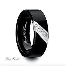 black mens wedding bands mens wedding bands engagement ring black tungsten ring ring