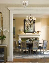Pottery Barn Lantern Chandelier Traditional Dining Room With Fireplace By Houlihan
