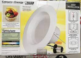led recessed lighting costco feit electric led 6 inch retrofit kit 2 pack costco weekender