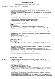 resume format administrative officers exams 4 driving lights operations assistant resume sles velvet jobs