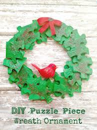 wreath puzzle ornament kid s craft puzzle pieces