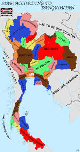 map of thailand how bangkokians see rest of thailand according to politically