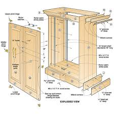 Kitchen Cabinet Diagrams 3 Assorted Cabinet Plans You Can Try Your Hands On