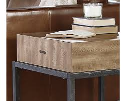 butcher block end table magnolia home boldly handsome is the butcher block end table from our architectural genre its contemporary streamline styled plank top finished in salvage accented with