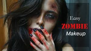 easy zombie makeup using makeup geek shadows melissa alatorre