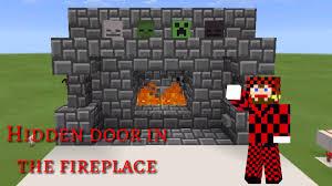 simple secret hidden fireplace entrance redstone tutorial