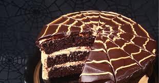 bird on a cake chocolate orange spider web cake