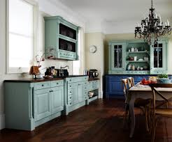 kitchen cabinet paint colors country blue style print curtains