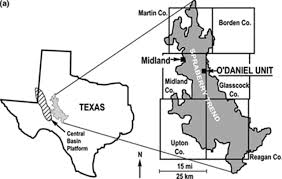 Midland Texas Map Natural Fractures In The Spraberry Formation Midland Basin Texas