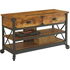 Tv Table Better Homes And Gardens Rustic Country Antiqued Black Pine Panel