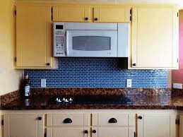 plain beige kitchen cabinet royal blue backsplash small