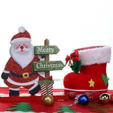 santa claus snowman christmas xmas decor living room table