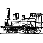 steam locomotive detailed vector drawing public domain vectors