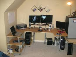 Diy Built In Desk Plans Build Own Computer Desk Your U Shaped Free Diy Plans