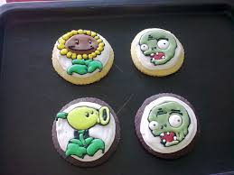 Plants Vs Zombies Cake Decorations Plants Vs Zombies Sugar Cookies And Cupcake Toppers Mint