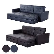 Leather Sofa Bed Corner Leather Corner Sofa Bed Ebay