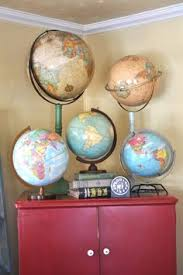 vintage world globes for a coffee room interior inspiration