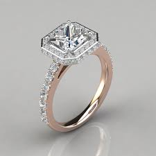 princess cut halo engagement ring two sided cathedral princess halo engagement ring puregemsjewels