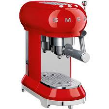 buy smeg ecf01rduk 50 u0027s retro style espresso coffee machine