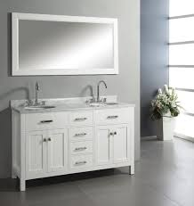 abodo 60 inch transitional bathroom vanity white finish set