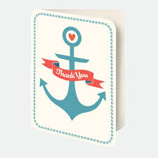 nautical thank you cards nautical thank you card set fleur de