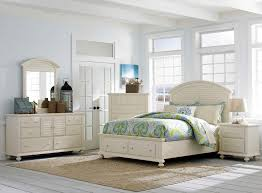 King Bedroom Set With Mirror Headboard Queen Panel Bed With Arched Louvered Headboard And Storage