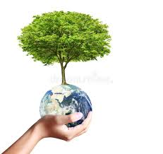 earth globe and tree in his stock photography image 38213702
