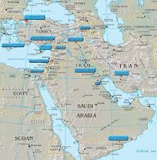 A Map Of The Middle East by Map Of Ancient Sites Of The Near Middle East Lovers Quarrel With