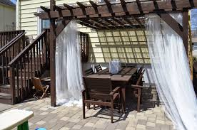 Mosquito Net Curtains by In The Little Yellow House Pergola Styling Curtains