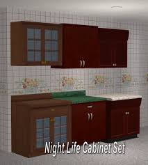 Kitchen Cabinet Set Mod The Sims Full Set Of Maxis Match Wall Cabinets Updated