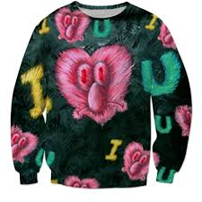 spongebob tear sweater eyelashes sweater
