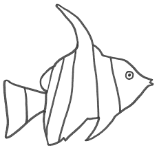 angelfish clipart nemo fish pencil and in color angelfish
