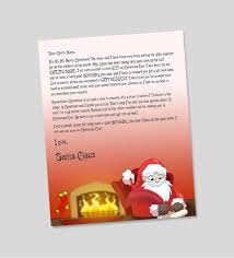 letter from santa personalized letters from santa